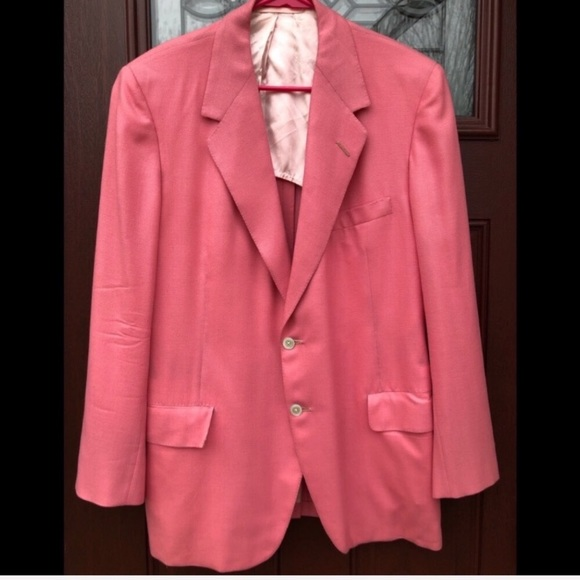 Vintage Other - Neiman Marcus Oxxford Mens Pink Blazer Sport Coat